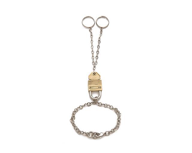 Rodarte Padlock Ring Bracelet in Silver