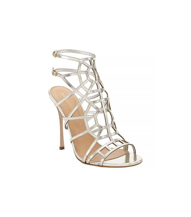 Sergio Rossi Puzzled Cage Evening Sandals