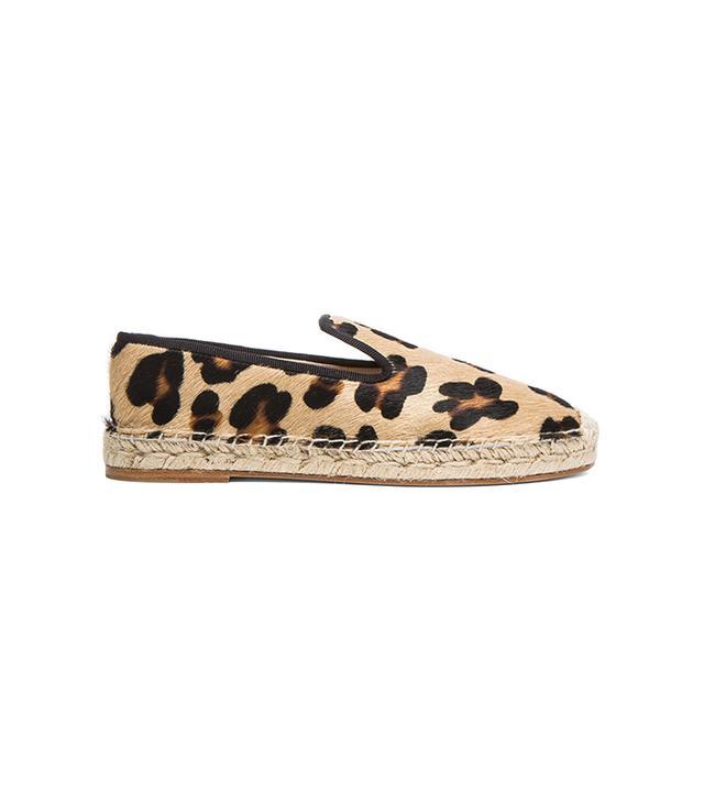 Elyse Walker Calf Hair Espadrilles in Leopard