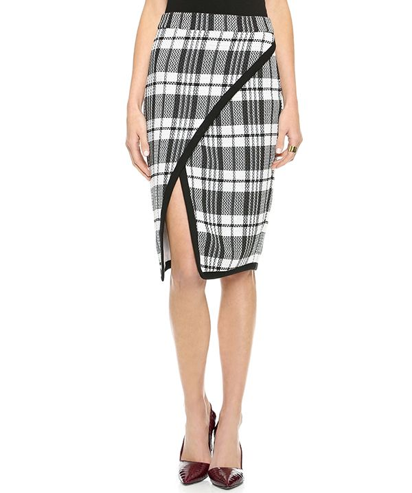 Sea Plaid Wrap Skirt