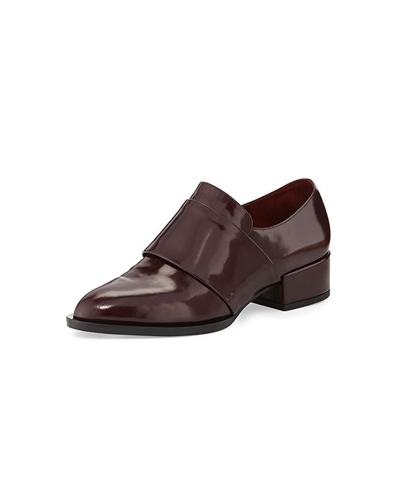 Vince Yaeger Leather Point-Toe Loafers