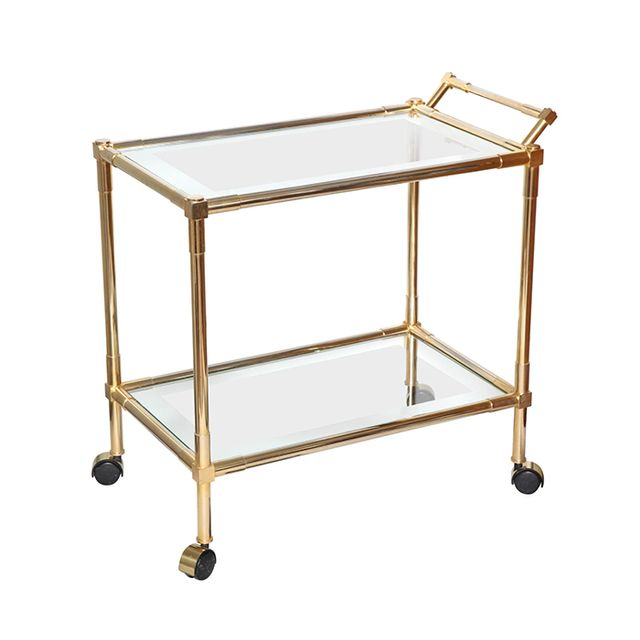 1st Dibs Brass and Glass Bar Cart