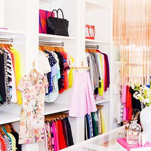 Step Inside a Fashion Blogger's Chic Office Closet