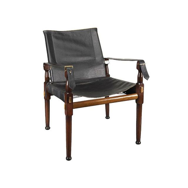 Authentic Models Black Campaign Chair