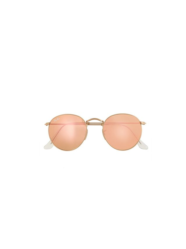 Ray-Ban Retro Round Sunglasses With Flash Lenses