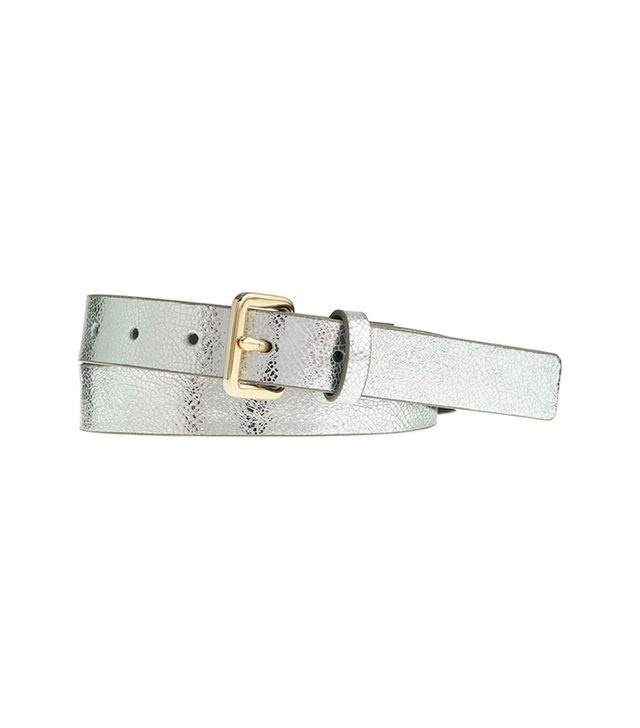 J.Crew Crackled Metallic Leather Belt