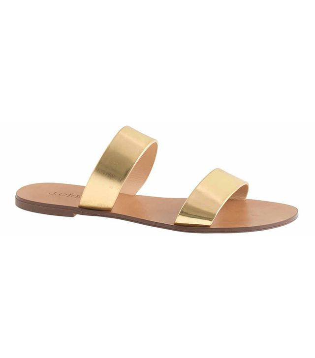 J.Crew Malta Mirror Metallic Sandals