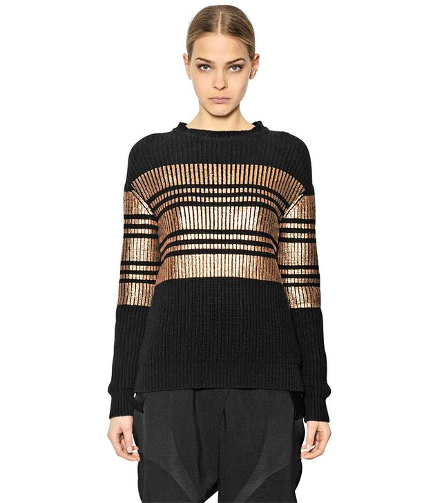Givenchy Metallic Striped Cashmere Blend Sweater