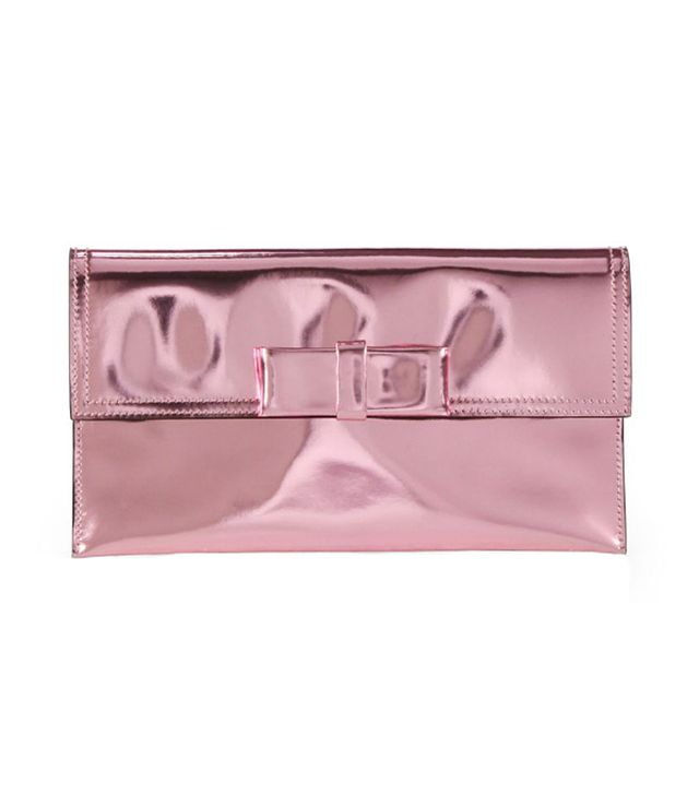 Marni Metallic Bow Clutch