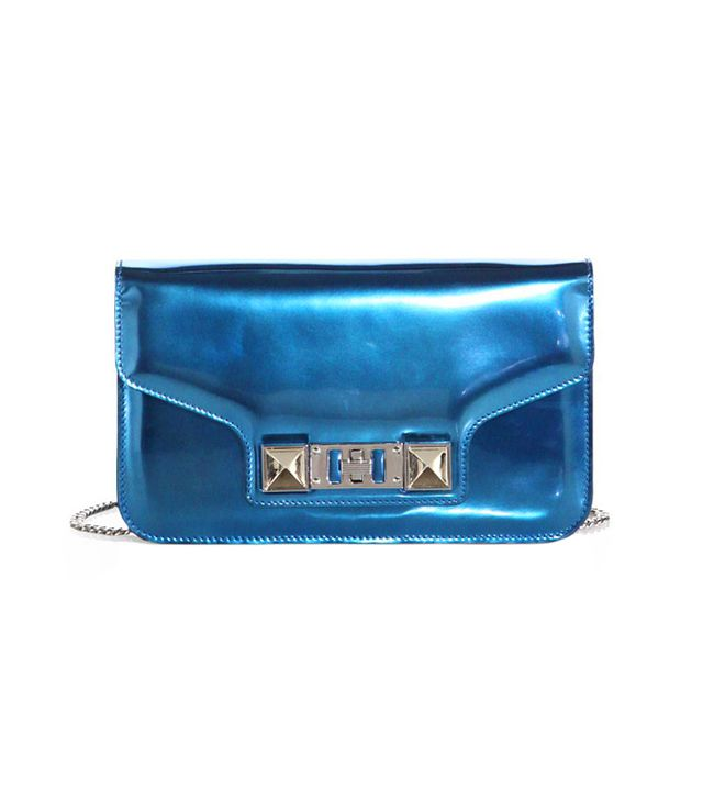 Proenza Schouler PS11 Metallic Leather Chain Wallet