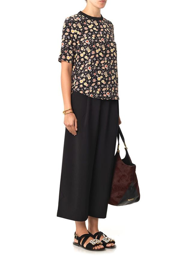 Elizabeth and James Trenton Wide-Leg Cropped Trousers