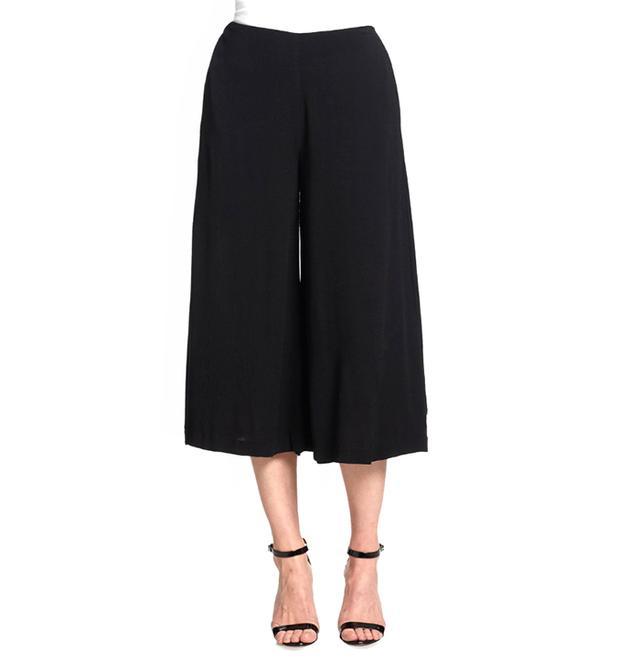 Line & Dot Wide-Leg Gaucho Pants