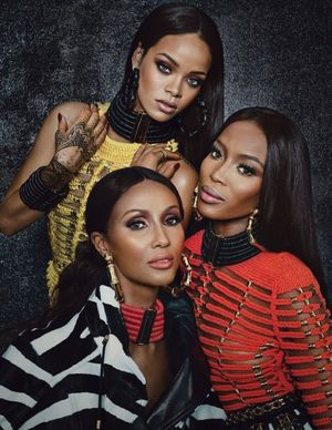 Naomi Campbell, Rihanna And Iman For W Magazine