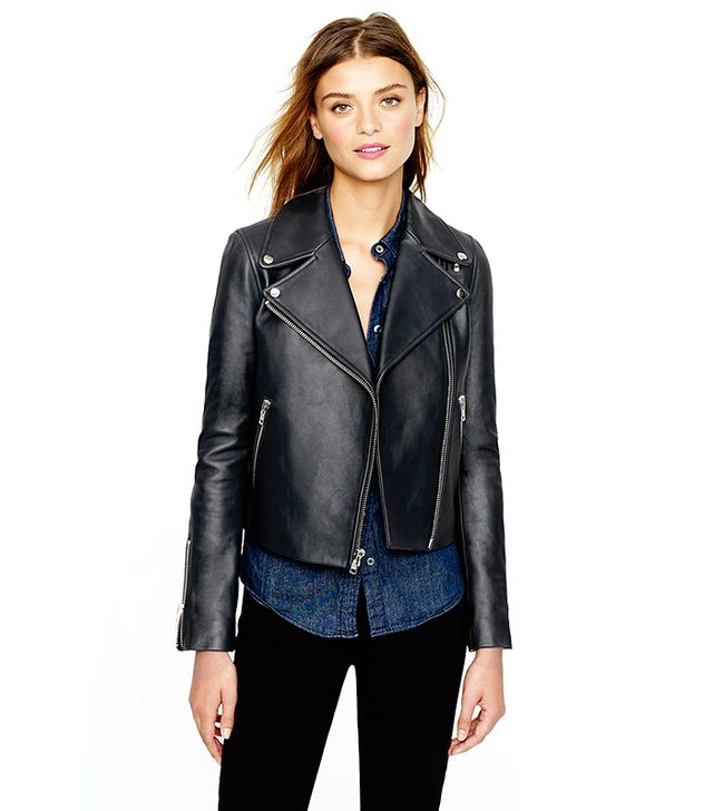 J. Crew Leather Motorcycle Jacket