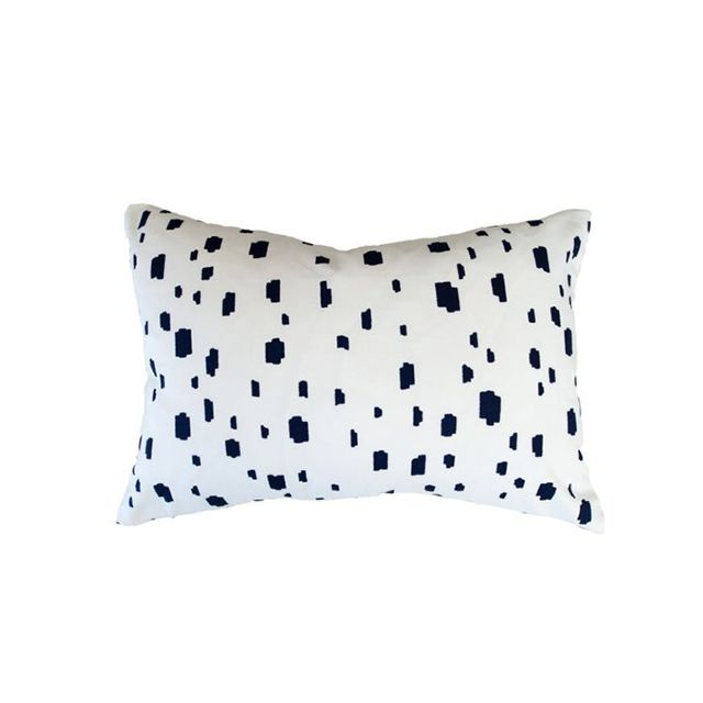 Caitlin Wilson Navy Spotted Pillow