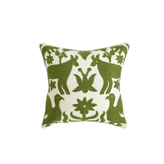Wisteria Otomi Pillow