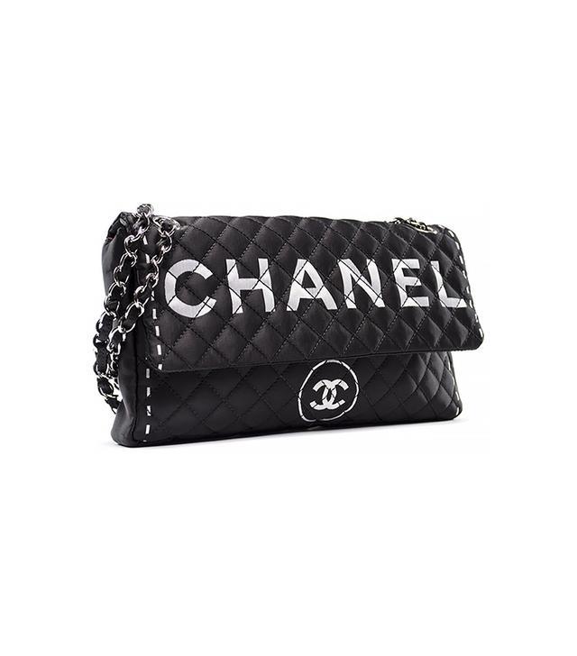 Chanel Black Satin Cruise Flap