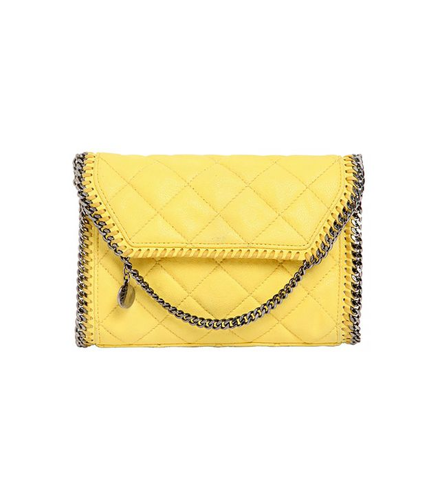 Stella McCartney Quilted Shaggy Faux Deer Bag