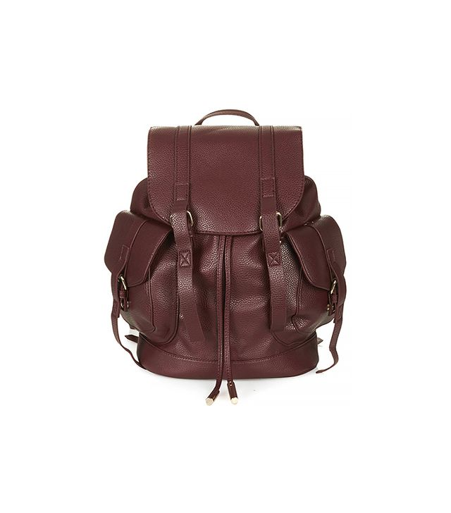 Topshop Grain Faux Leather Backpack