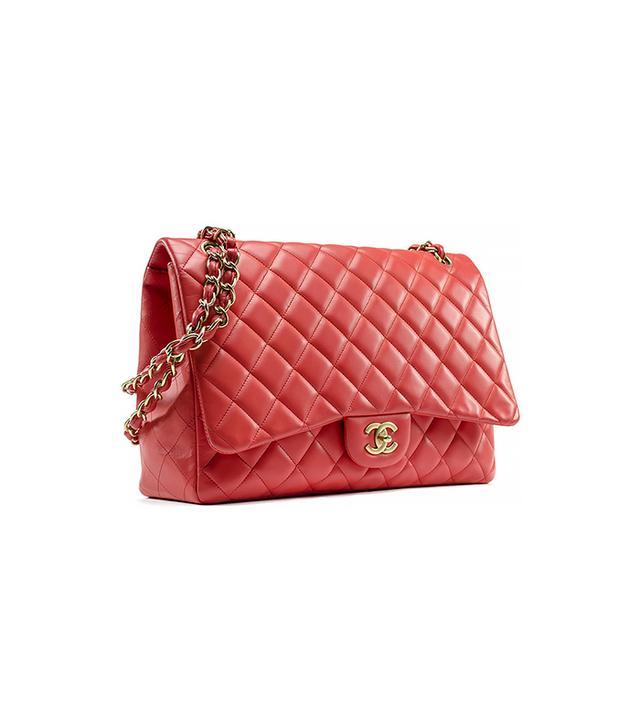 Chanel Coral Lambskin Single Maxi Flap
