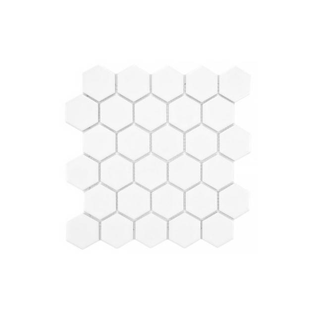 Merola Tile Metro Hex 2 in. Glossy White Mosaic Tile