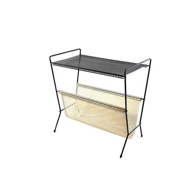 BomDesignFurniture Tomado Mategot Style White and Black Side Table