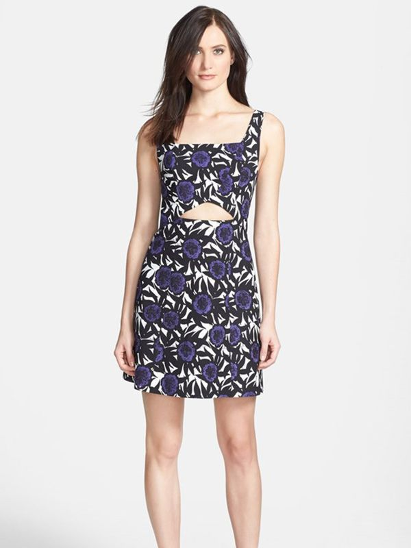 Rebecca Minkoff Hawk Print Stretch A-Line Dress