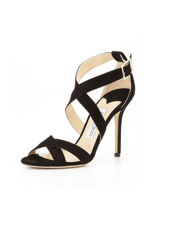 Jimmy Choo Lottie Suede Crisscross Sandals