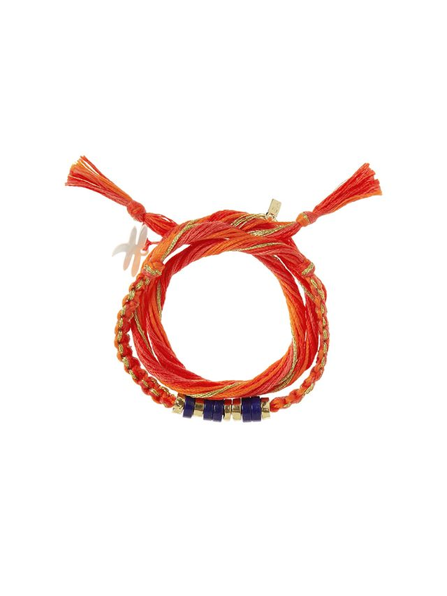 Aurelie Bidermann Takayama Cotton and Gold-Dipped Bracelet