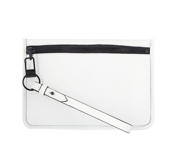 Alexander Wang Prisma Textured-Leather Clutch