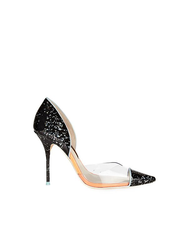 Sophia Webster Jessica Glittered Patent-Leather and PVC Pumps