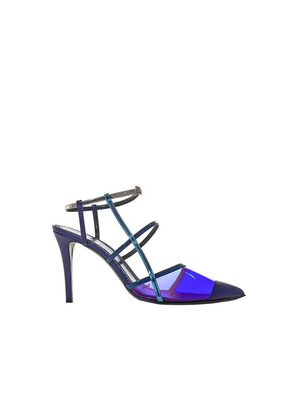Fendi PVC and Leather Point-Toe Pumps
