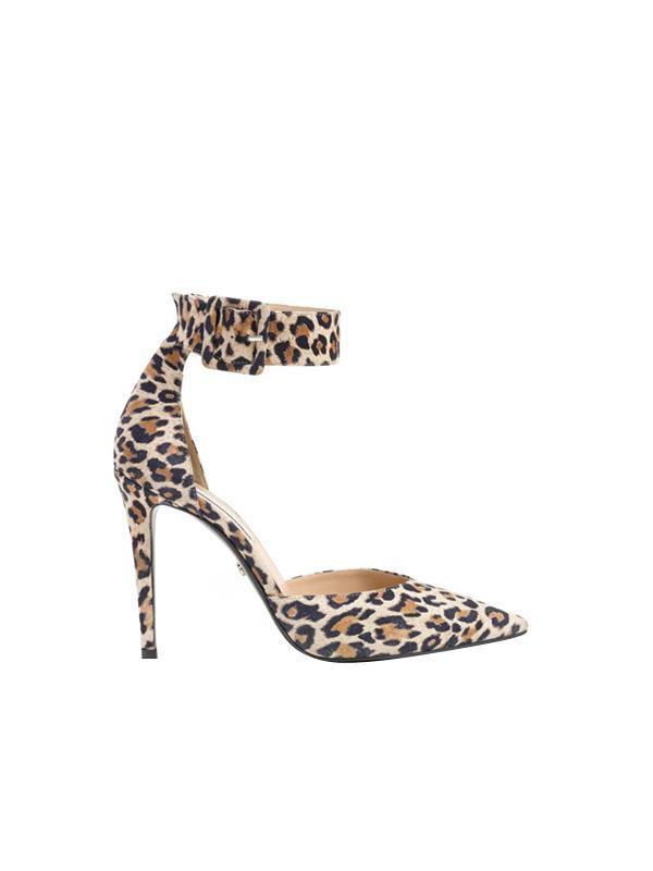 Diane von Furstenberg Buckie Ankle Strap Leopard Pump