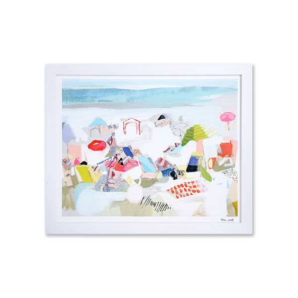 Furbish Studio,Christian Louboutin Sandwiches on the Beach Print