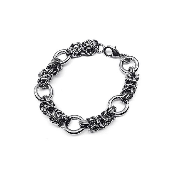 Chainless Brain Silver Armour Bracelet