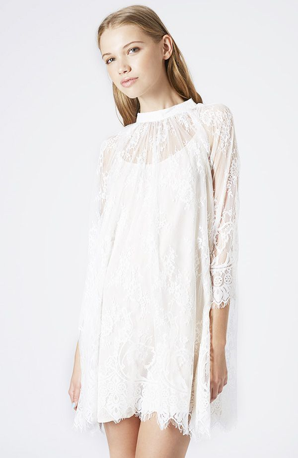 Topshop Lace Trapeze Dress