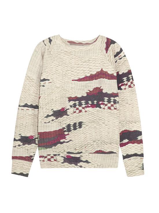 Étoile Isabel Marant Hana Printed Cotton-Blend Jersey Sweatshirt