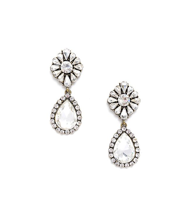 Jeweliq Crystal Fusion Drop Earrings