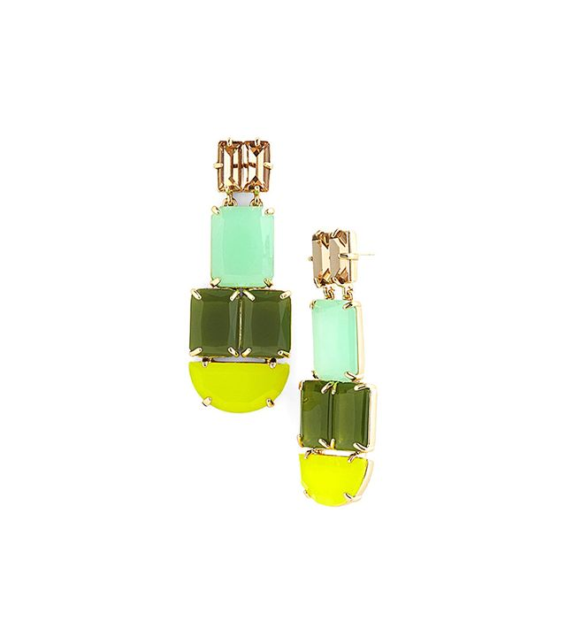 kate spade new york Varadero Tile Mixed Stone Statement Earrings