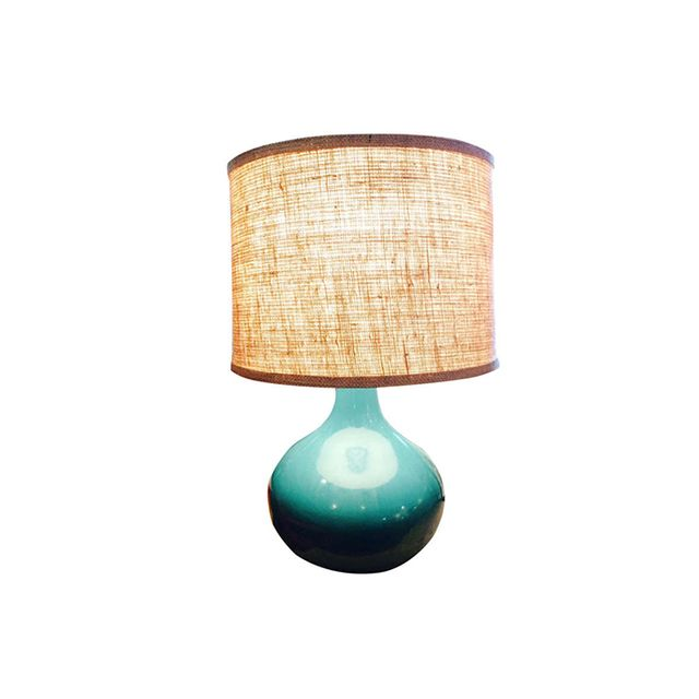 1st Dibs Vintage Midcentury Teal Table Lamp