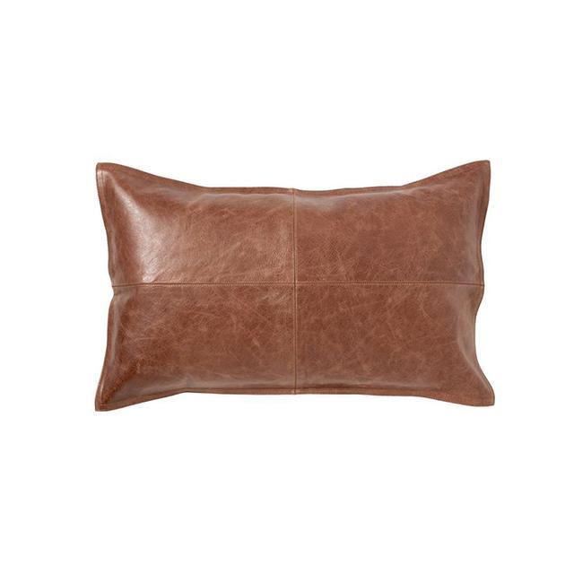 Pottery Barn Leather Lumbar Pillow