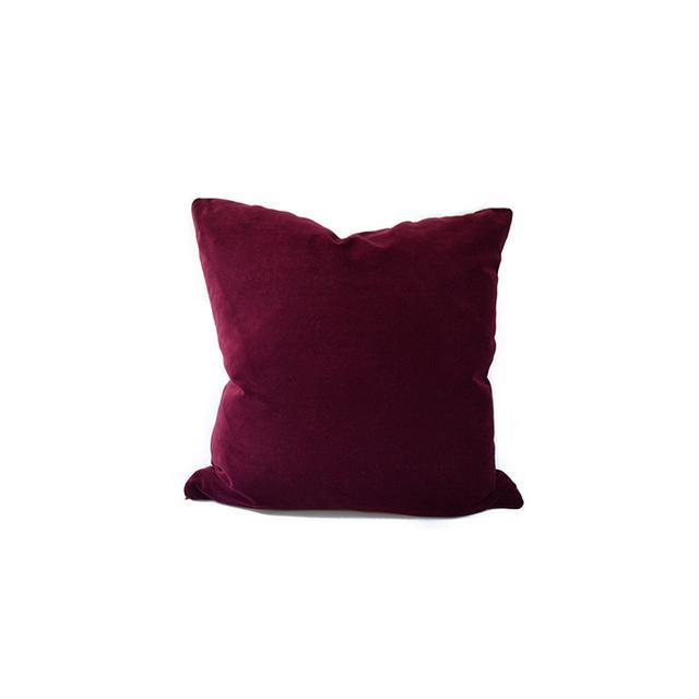 Avosetta Home Burgundy Velvet Pillow