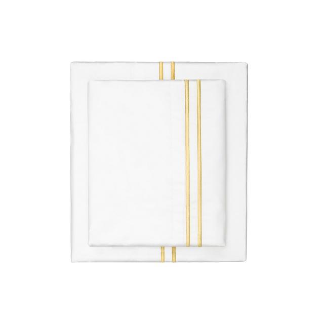Crane & Canopy Embroidered Marigold Sheet Set