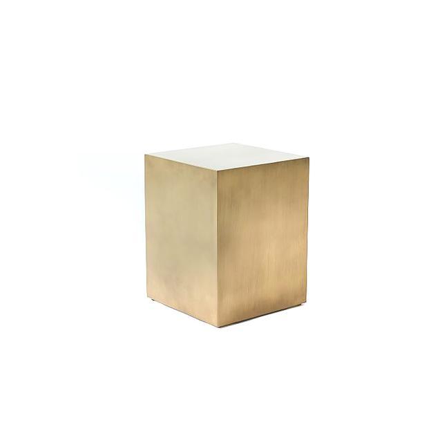 West Elm Metal Cube Side Table