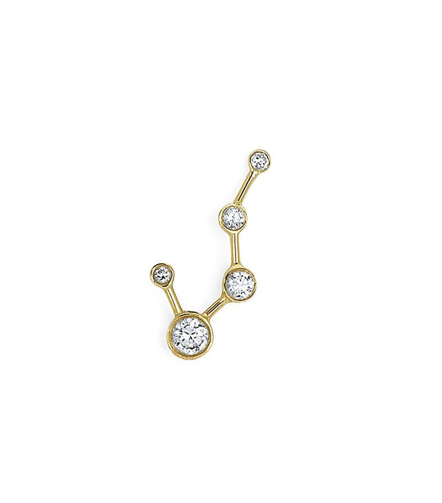 Logan Hollowell Single Diamond Constellation Earring