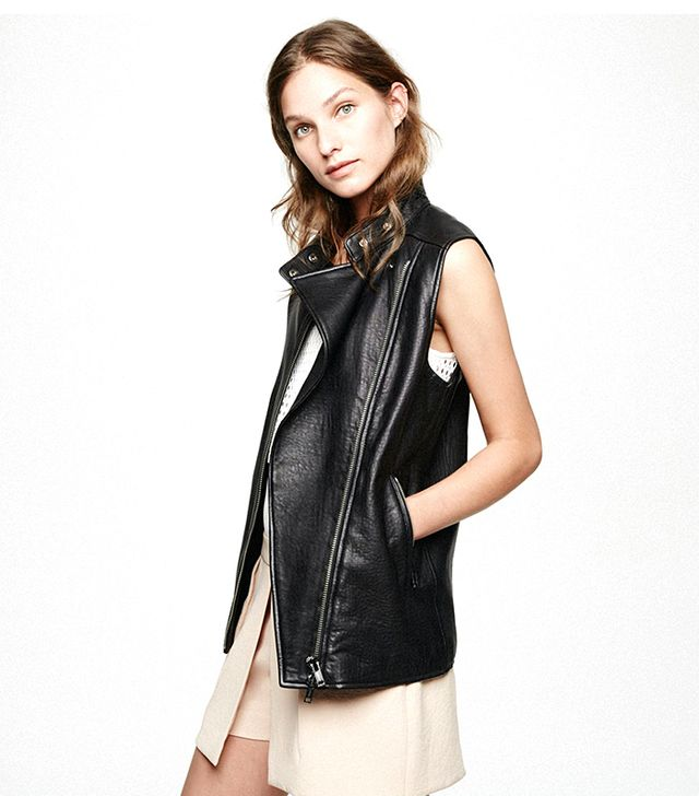 Club Monaco Ray Leather Vest