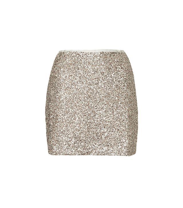 Topshop Winkle Sequin Pelmet Skirt