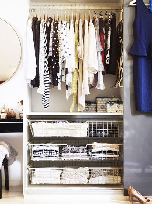 Store your basics in see-through drawers.