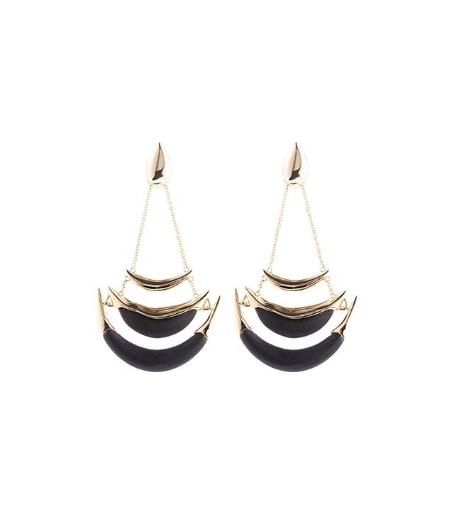 Alexis Bittar Kinshasa Stacked Crescent Clip Earrings