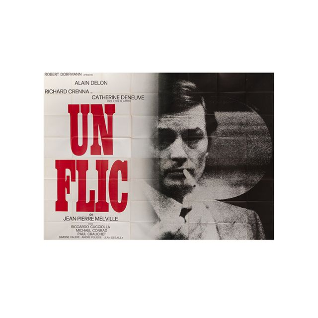 Ebay UN FLIC 1972 French billboard Alain Delon Melville